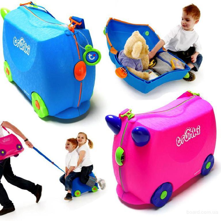 Детские чемоданы Trunki. Чемодан-каталка Trunki оригинал Англия