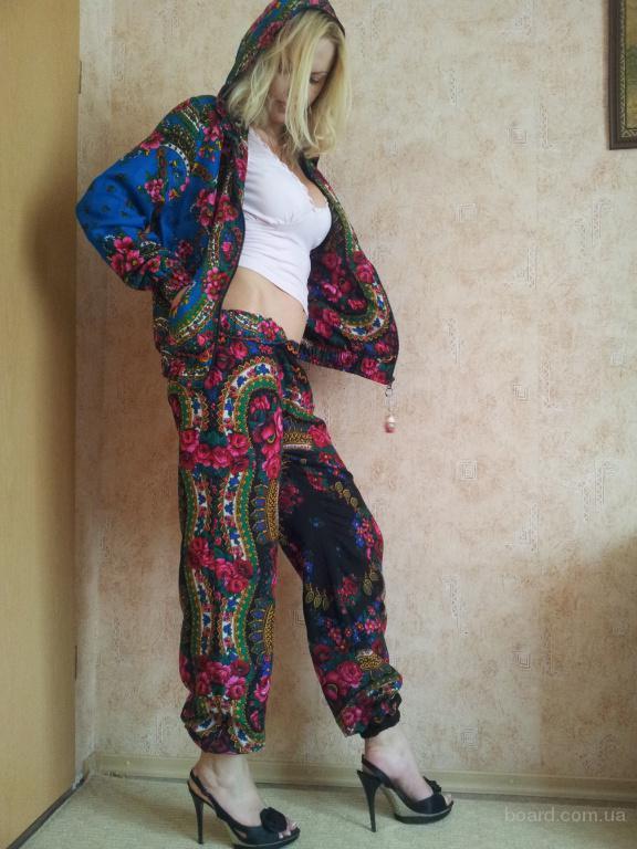 Двусторонний костюм из платка в стиле Матрешка