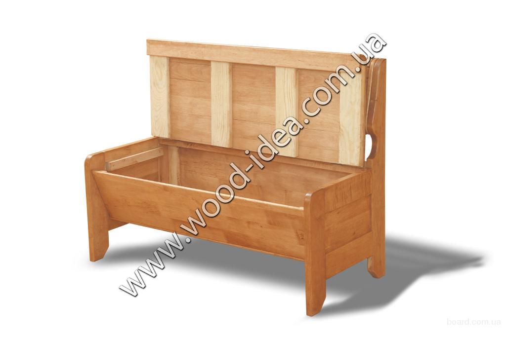 Скамейка для кухни с ящиком своими руками 39