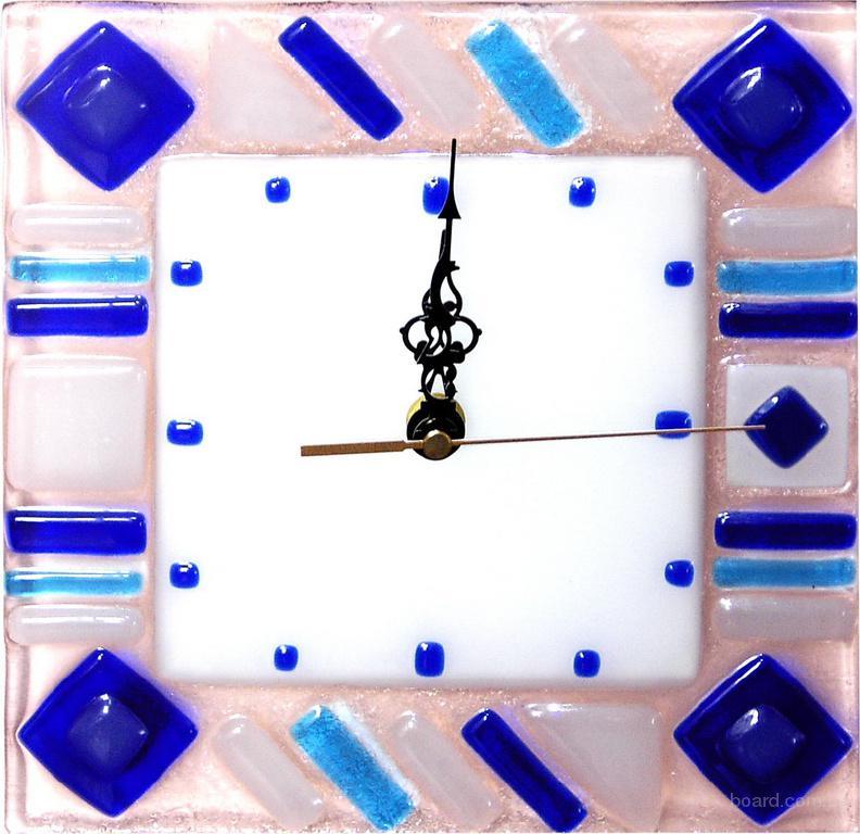 Декоративні годинники для будь-якого інтер'єру.Ф'юзинг, кристали Сваровскі, ручне виготовлення.