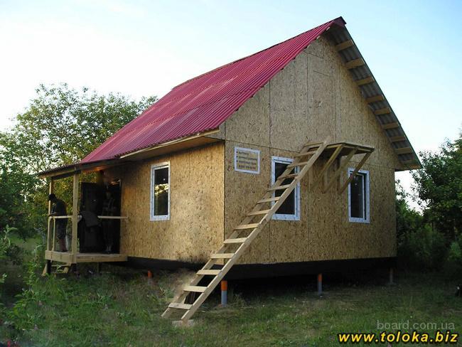Каркасный дом своими руками на винтовых сваях