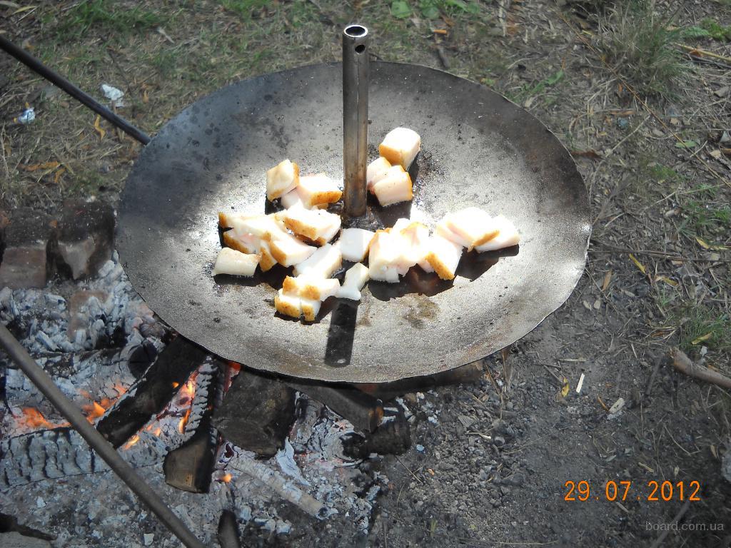 Сковорода самодельная с диска: 450 грн.  - Охота / рыбалка в Умани на Slando.