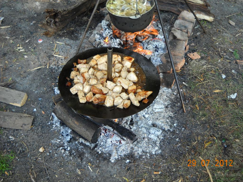 Сковорода для пикника самодельная с диска (новая) в Киеве - изображение 4.