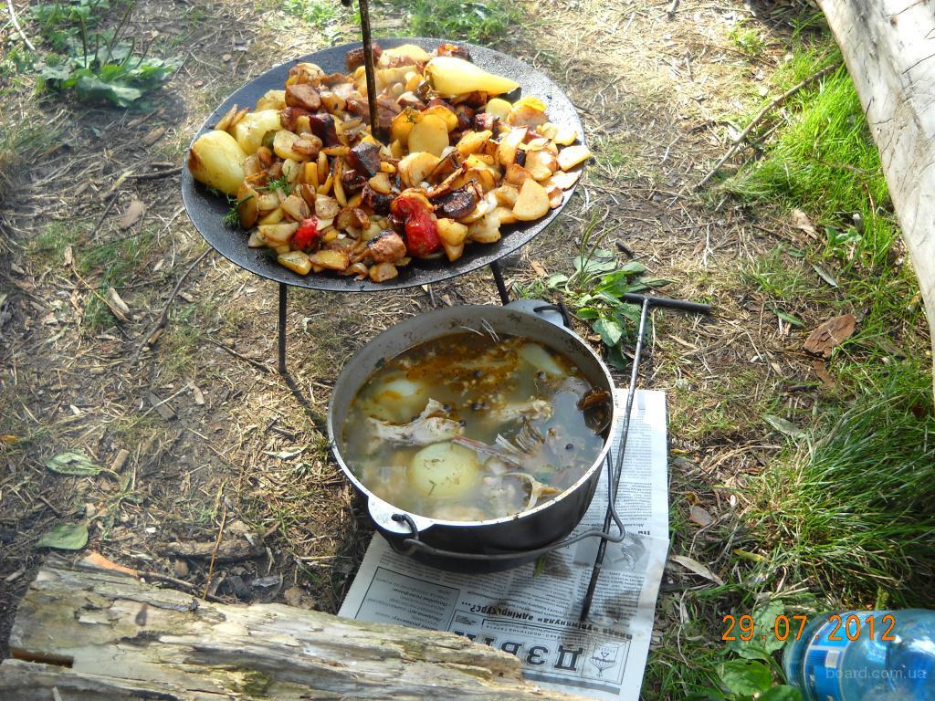 Сковорода для пикника самодельная с диска (новая): 450 грн.  - Туризм в Киеве на Slando.
