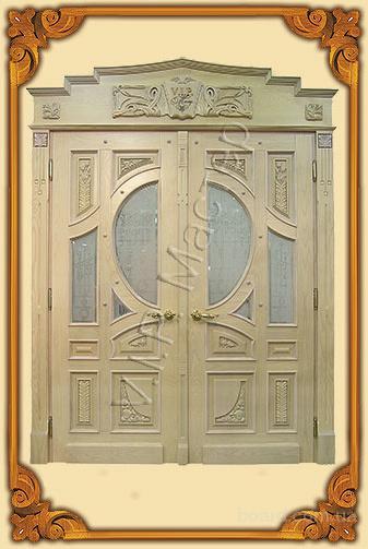 входная дверь в стиле модерн из массива