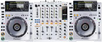 White Limited Edition 2 X Pioneer CDJ-2000 + Pioneer DJM-900 Nexus Mixer at $2400USD.