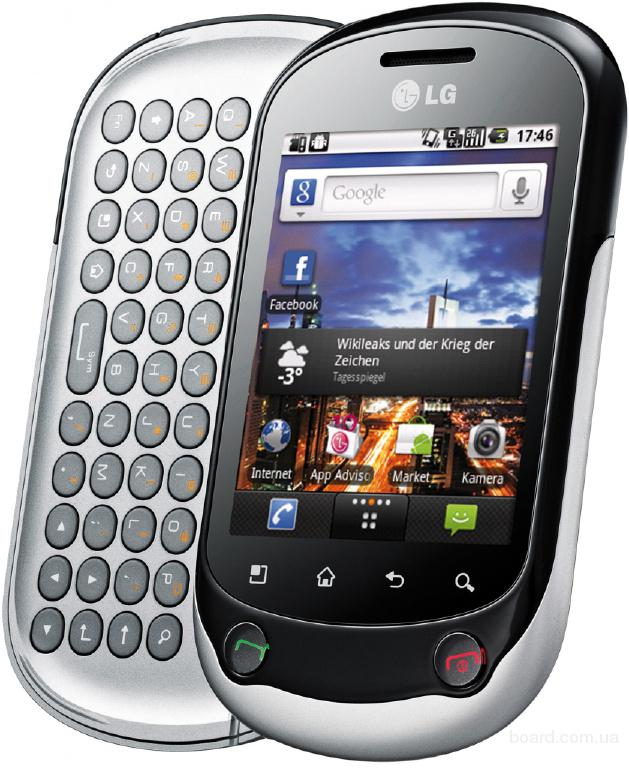 Сотовый телефон lg optimus chat C550.