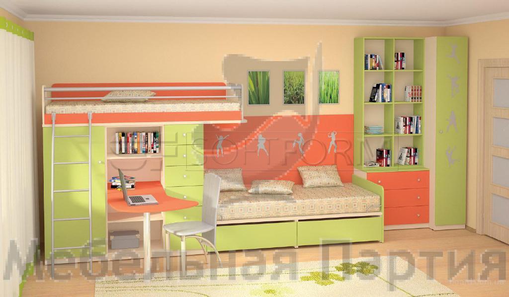 Детская мебель. Двухъярусные кровати