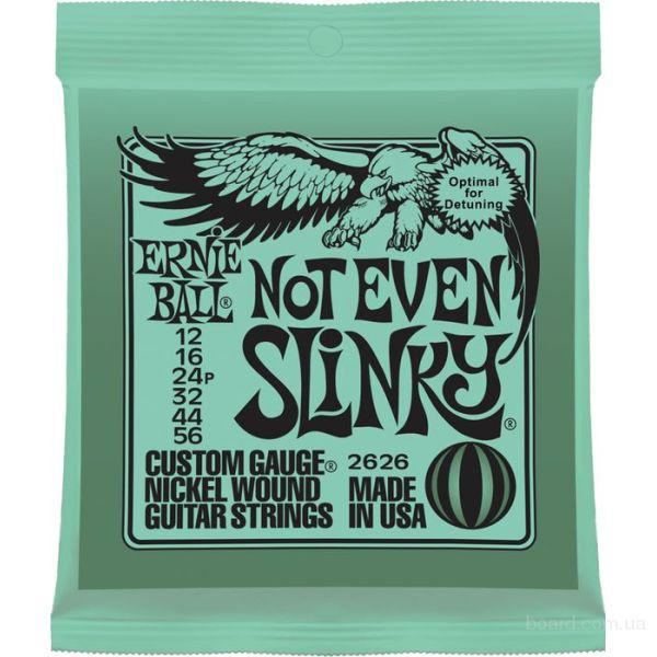 Струны Ernie ball 2626 Not Even Slinky Drop Tuning 12-56  Вся Украина