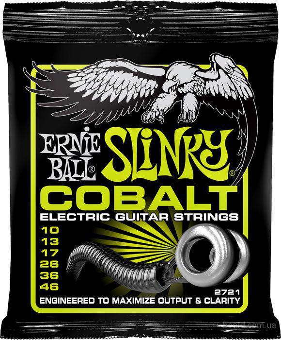 Струны Ernie Ball 2721 Cobalt Slinky 10-46  Вся Украина