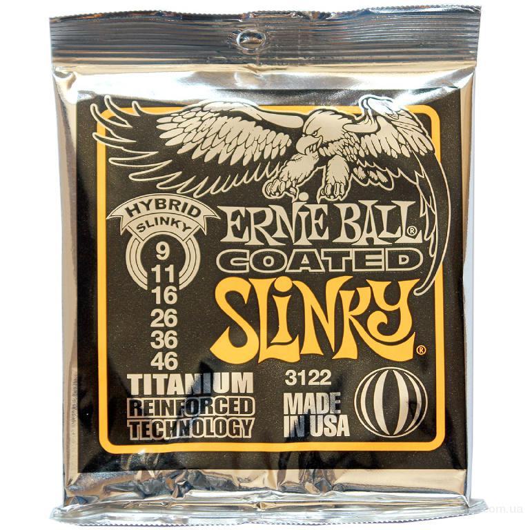 Струны Ernie ball 3122 Titanium Hybrid Slinky 9-46 Вся Украина
