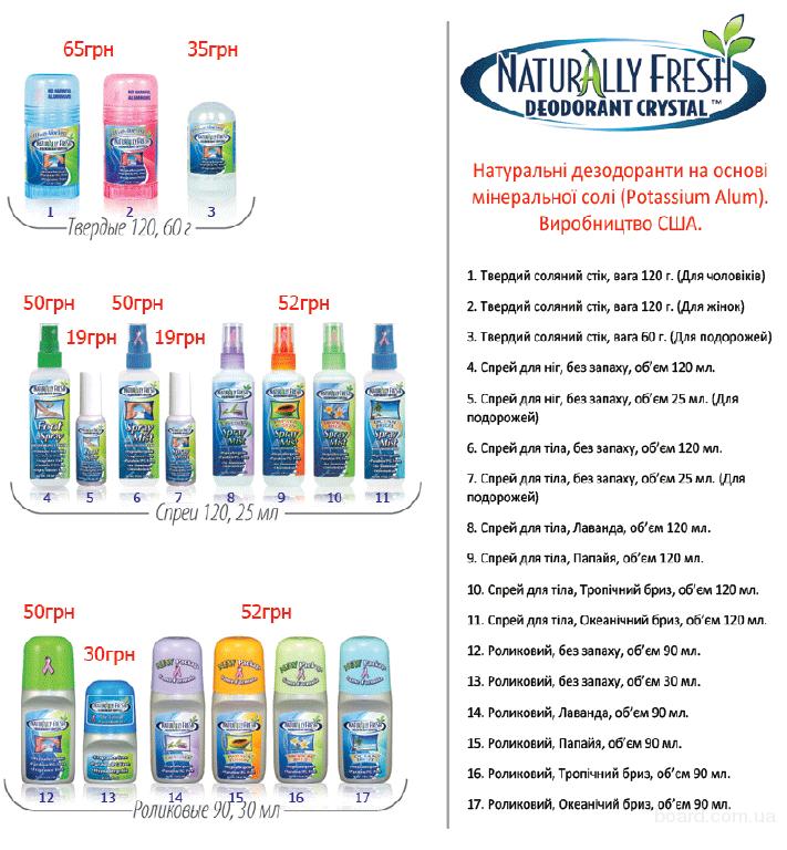 Продам натуральные дезодоранты Crystal