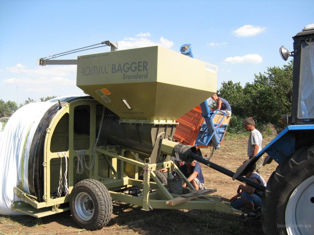 заготовка кукурузы в полиэтиленовые рукава. прочее.