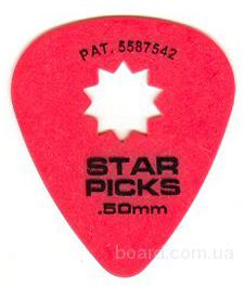 Медиатор Star Picks / Thin / .50mm Вся Украина
