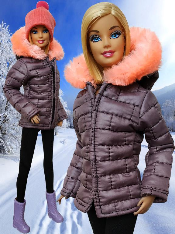 зимняя одежда для кукол барби своими руками