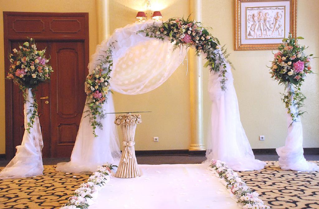 Свадебные арки из цветов фото