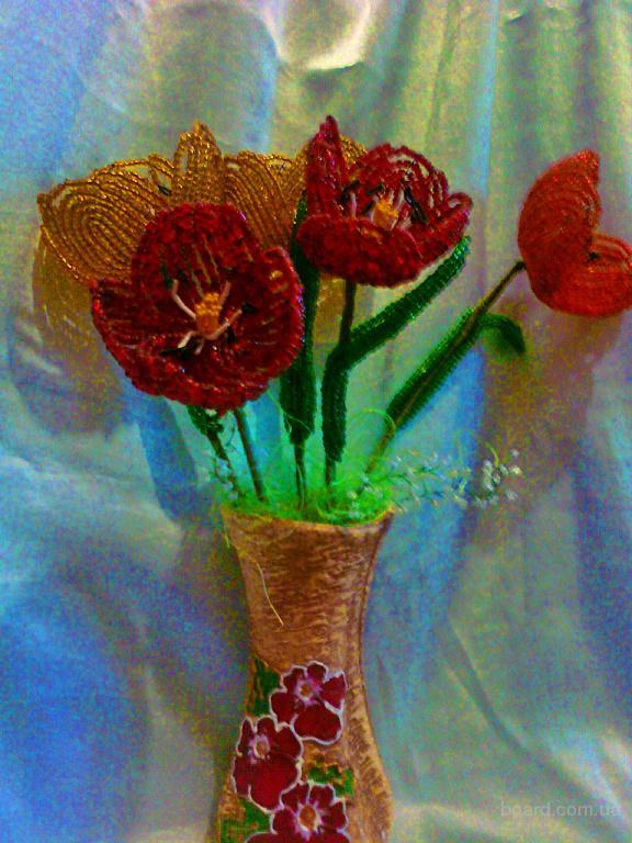 Продам цветы из бисера. продам) .