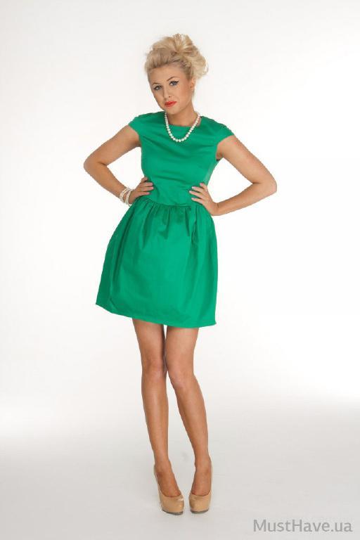 Летние платья изумрудного цвета 3