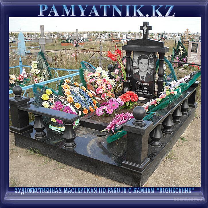 Подбор памятников Щукинская Лампадка из лезниковского гранита резная Касимов