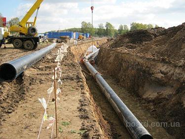 Строительство трубопроводов: магистральных , городских, технологических.  Выполняем земляные работы под трубопроводы...