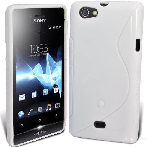 Белый чехол накладка для Sony Xperia MIRO ST23i ( 120 грн. )