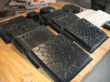 Оборудование для производства пластиковых форм для тротуарной плитки, фасадной плитки.