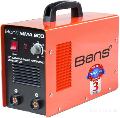Продам инвертор сварочный Bens ММА-250 С 3 года гарантия - 1681 грн.  Дом Сварки Днепропетровск предлагает сварочный...