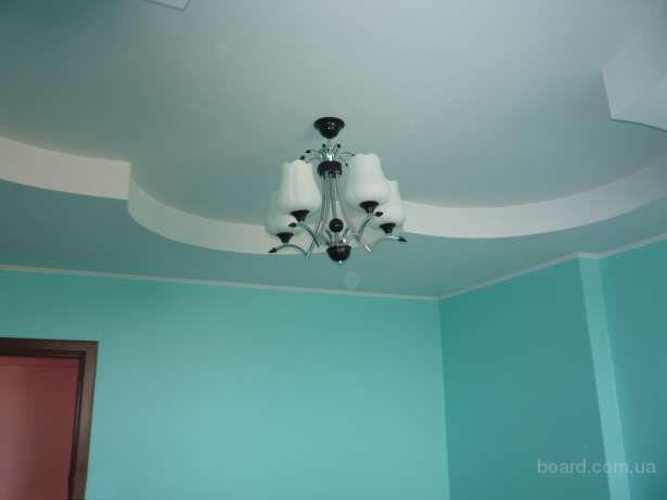 Шпаклевка гипсокартона на потолке фото