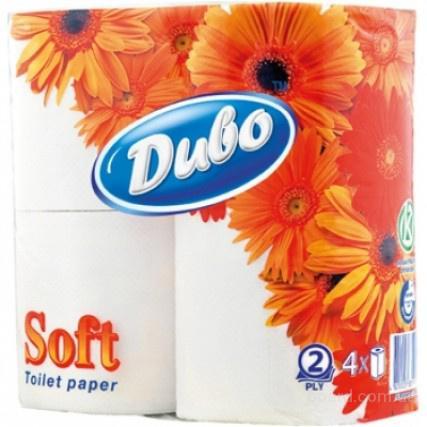 Бумага туалетная ДИВО 4 рулона белая