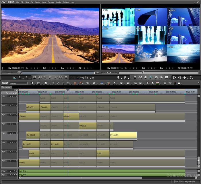 EDIUS Pro 4.54 позволяет видеомонтажерам работать в реальном времени Об